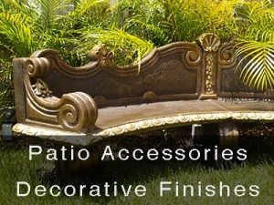 Patio Accessories Decorative Finishes