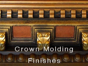 Hand Painted Crown Moldings Finishes
