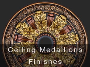 Hand Painted Ceiling Medallions Finishes