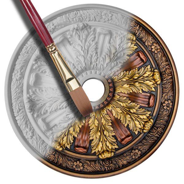 Custom ceiling medallion finish