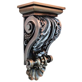 Hand painted corbels