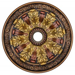 "Ceiling Medallion ""Sunshine Illusion"" 30 in. Hand Painted"