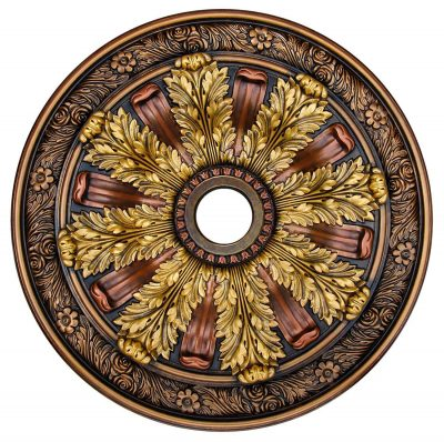 """Ceiling Medallion """"Sunshine Illusion"""" 30 in. Hand Painted"""