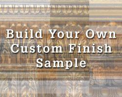 Custom molding finish sample